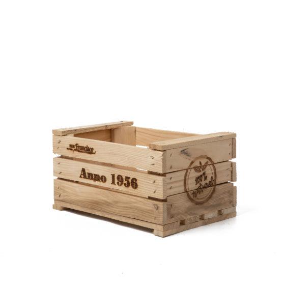 Cassette di legno con incisione laser