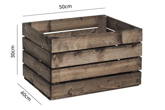 Cassette legno maxi scure