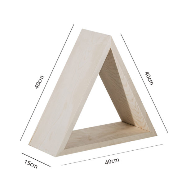 Mensola legno triangolo colore neutro