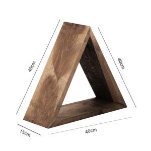 Mensola in legno a triangolo
