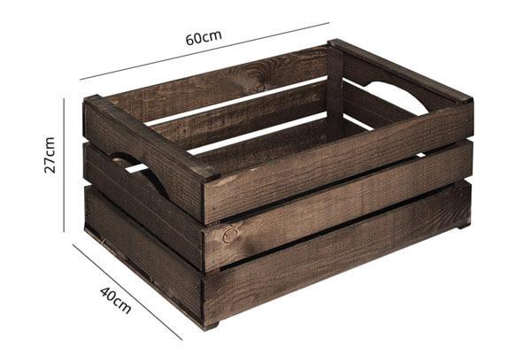 Cassette di legno grandi