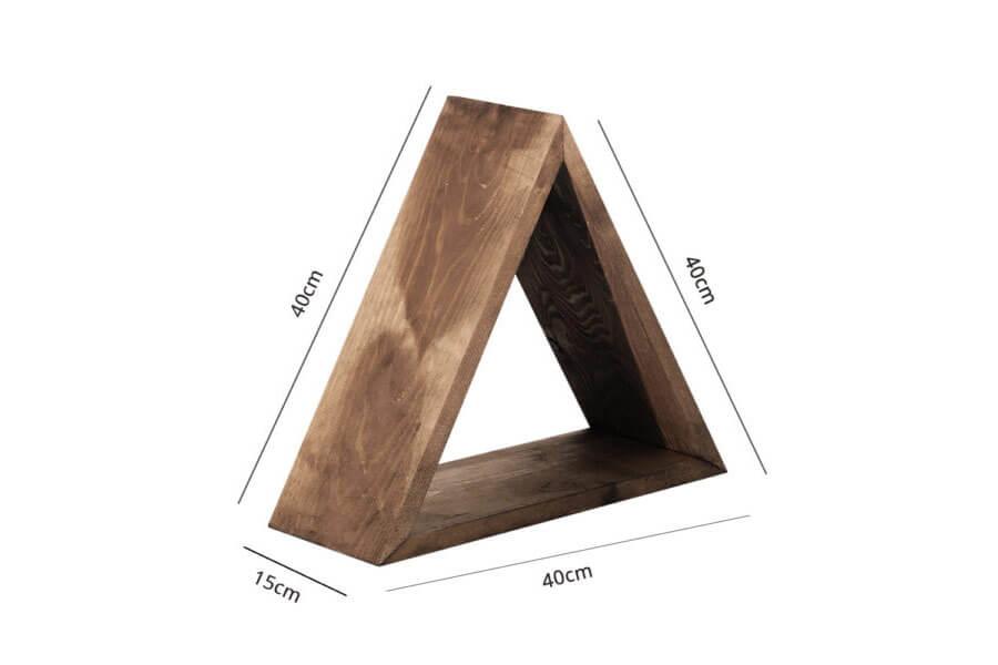 Mensola Legno triangolo colore scuro