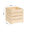 Cubo in legno 25 cm