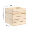cubo medio legno