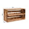cassetta in legno con mensola super lunga